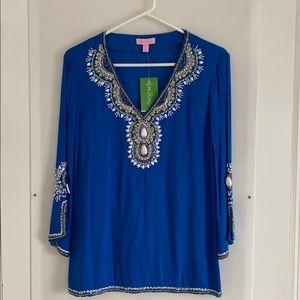 Lilly Pulitzer beautiful beaded tunic size XS